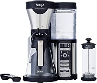 Ninja Coffee Bar with Glass Carafe and Auto-iQ One & Hot & Cold 18 oz. Insulated Tumbler - CF082 (Renewed)