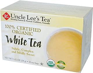 Uncle Lee s Tea 100 Certified Organic White Tea 18 Tea Bags 1 02 oz 29 g