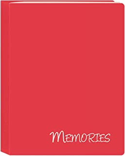 "Pioneer Photo Albums I-46M/RD 36 Pockets Hold Memories Mini Photo Album, Red, 4"" x 6"""