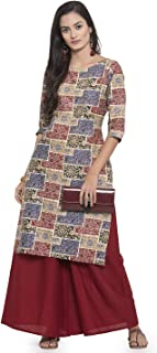 Women's Cotton Kurti With Palazzo Pant Set