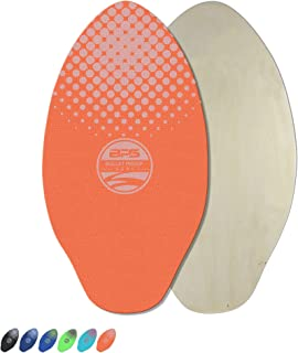 BPS 'Gator' Skimboards with Colored EVA Grip Pad and High Gloss Clear Coat | Wooden Skim Board with Grip Pad for Kids and Adults | Choose from 3 Sizes and Traction Pad Color