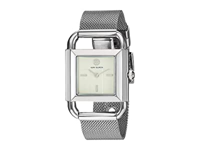 Tory Burch Phipps Mesh Watch (Silver TBW7252) Watches