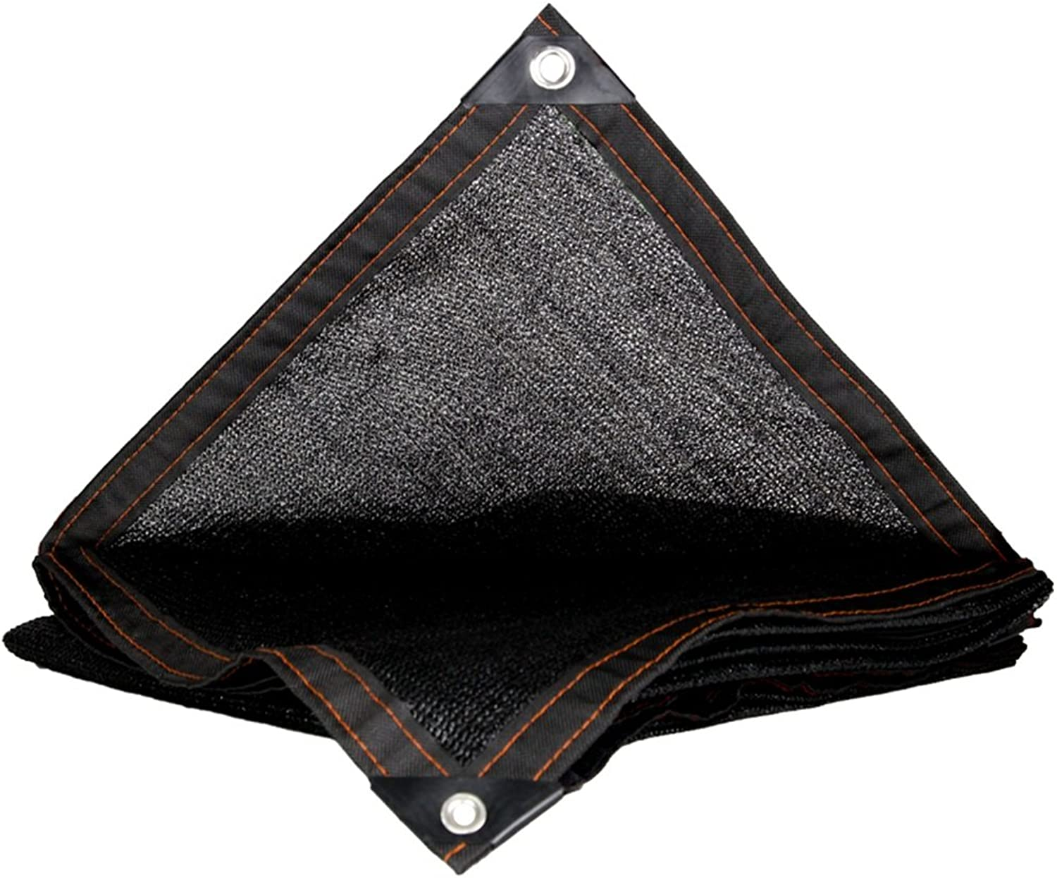 Encrypted Sunshade Tarpaulin, Sunscreen Edging Perforated Tarp Sheet, Thickened Garden Roof, MultiMeat Insulated Tarpaulin (color   Black, Size   2x3M)