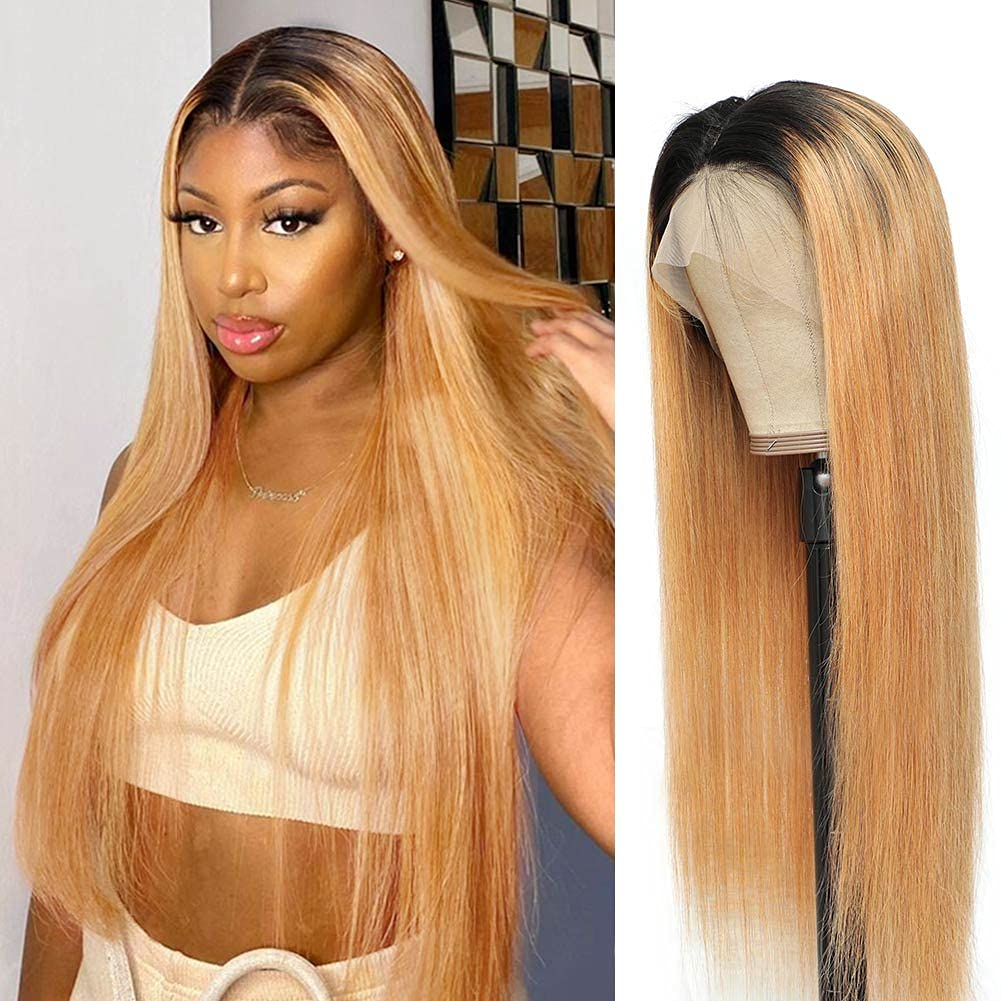 Ombre Lace Front Under blast sales Wig Don't miss the campaign Human Hair B for Frontal Wigs Straight