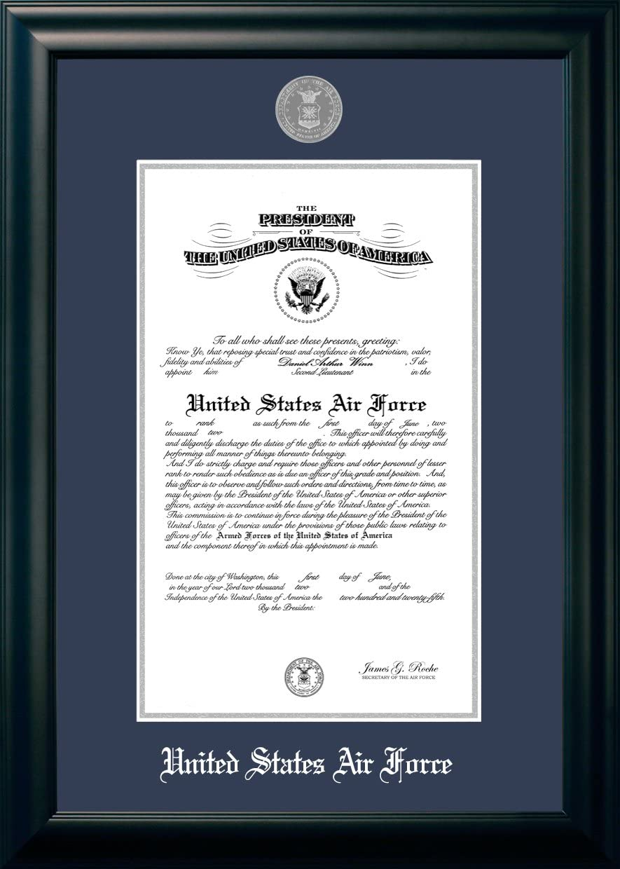 Patriot Air Force Certificate Frame with Silver Fresno [Alternative dealer] Mall x 1 Medallion 10