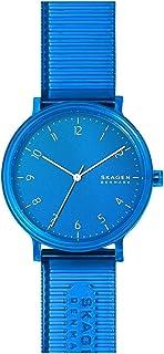 Skagen Aaren Men's Blue Dial PU Leather Analog Watch - SKW6602