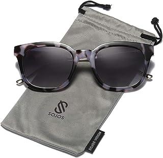 daaacc04469d4 SOJOS Classic Polarized Sunglasses for Women Men Mirrored Lens SJ2050