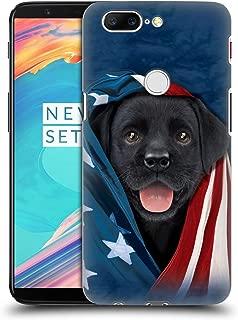 Official Vincent HIE Patriotic Black Lab Canidae Hard Back Case Compatible for OnePlus 5T