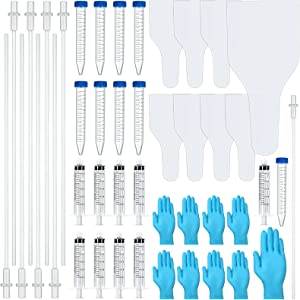 Weewooday 8 Set/ 40 Pieces AI Artificial Insemination Dog Breeding Kit Artificially Inseminate Dog Kit Disposable Canine Artificial Insemination Cones Dog Semen Collection Bag for Dog Pet