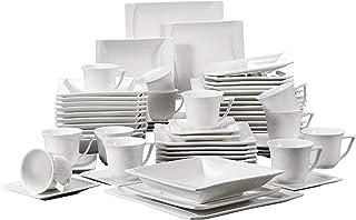 MALACASA, Série Carina, 60pcs Services de Table Complets Porcelaine, 12pcs Assiettes Plates, 12 Assiettes Creuse, 12 Assie...