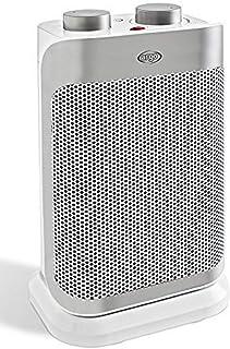 Argoclima Boogie Calefactor cerámico, 1500 W, 240 V, Blanco y Plata