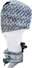 OUTERENVY Grey Fish Scales Outboard Motor Cover for Yamaha, Suzuki and Mercury | Made in USA to Stay on While You Run!