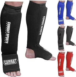 Combat Sports Washable MMA Training Instep Padded Shin Guards