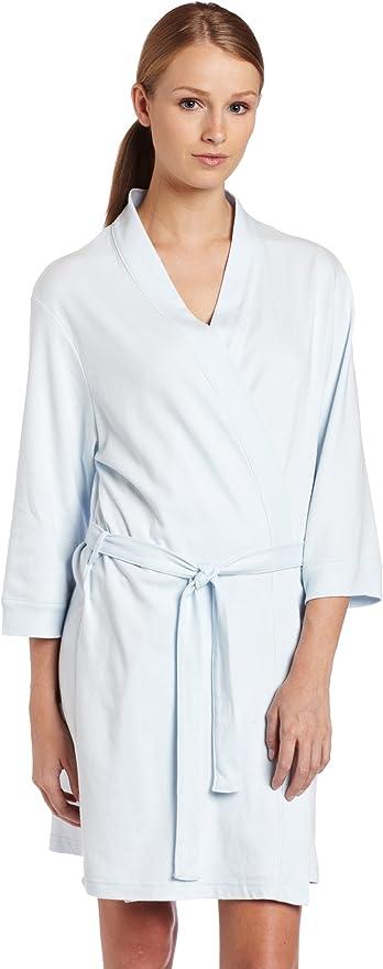 Womens Lace Patchwork Kimono Hotel Spa Bathrobe Sleepwear Robe With Belt EHE8 03