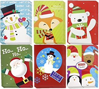 Christmas Happy Holiday Multicolor 6 Design Santa, Snowman, Polar Bear, Reindeer, Festive Characters, Colorful Greeting Cards with Envelopes - 36 Count, 5