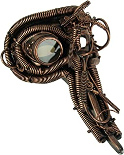 Metallic Copper Long Nose Steampunk Adult Costume Mask
