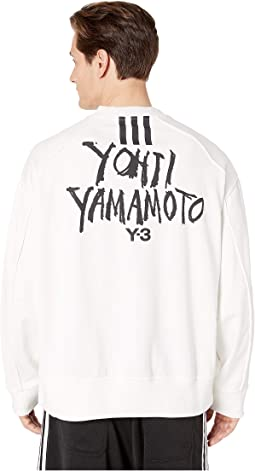 16ea8dd69 Core White. adidas Y-3 by Yohji Yamamoto. Signature Graphic Crew Sweater.   280.00