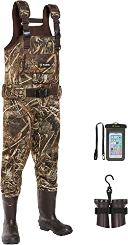 TIDEWE Chest Waders, Hunting Waders for Men Realtree MAX5 Camo with 600G Insulation, Waterproof Cleated Neoprene Boot...