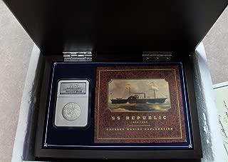 1861 O SS Republic Silver Half Dollar with Box/Book/COA 50c Shipwreck Effect NGC