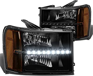 DNA Motoring HLLEDGMCSIE07BKAM LED Headlight (Driver & Passenger Side)