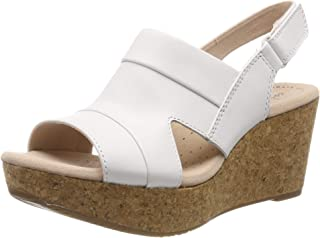 Clarks Women's Annadel Ivory Leather Fashion Sandals