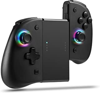 Joypad for Nintendo Switch, Wireless Joy Con Replacement Switch Controller 8 Colors Adjustable LED Joypad Controller with ...