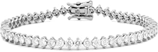 Femme Luxe Elisa Diamond Bracelet for Women (1.50 Carats, G-H Color, I2 Clarity), 14K White Gold, with Gift Box, Giftable ...