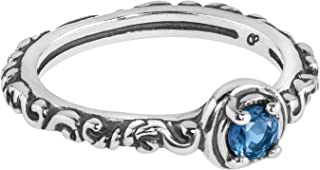 Sterling Silver Multi Gemstone Choice of 8 Different Colors Single Round Stone Band Ring Size 5 to 10