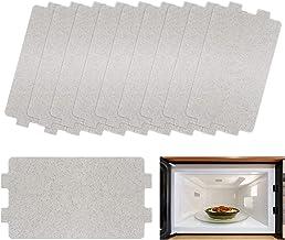 10 Piezas Hoja de Mica, Plato de Mica para Microondas,Placa mica microondas universal Disco de Mica, Accesorios de Reparación 10.5 x 6.4cm