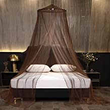 Mengersi Elegant Bed Canopy Round Mosquito Net Canopy Bed Curtains Hanging Mesh Fit Twin,Full,Queen,King Size Bed,Quick Ea...