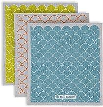 Full Circle Sheet Plantbased Dish Cloths, Set of 3, Scales