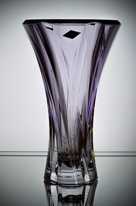 Product Czech Bohemian Crystal Glass Amethyst-Purple 12''-H ''Oklah Max 77% OFF Vase