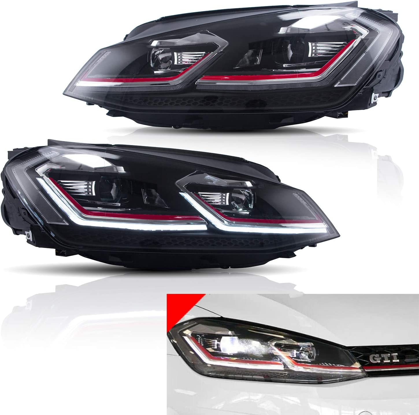 2021new shipping free shipping JDMSPEED Atlanta Mall New Projector Headlights With Replac DRL Switchback LED