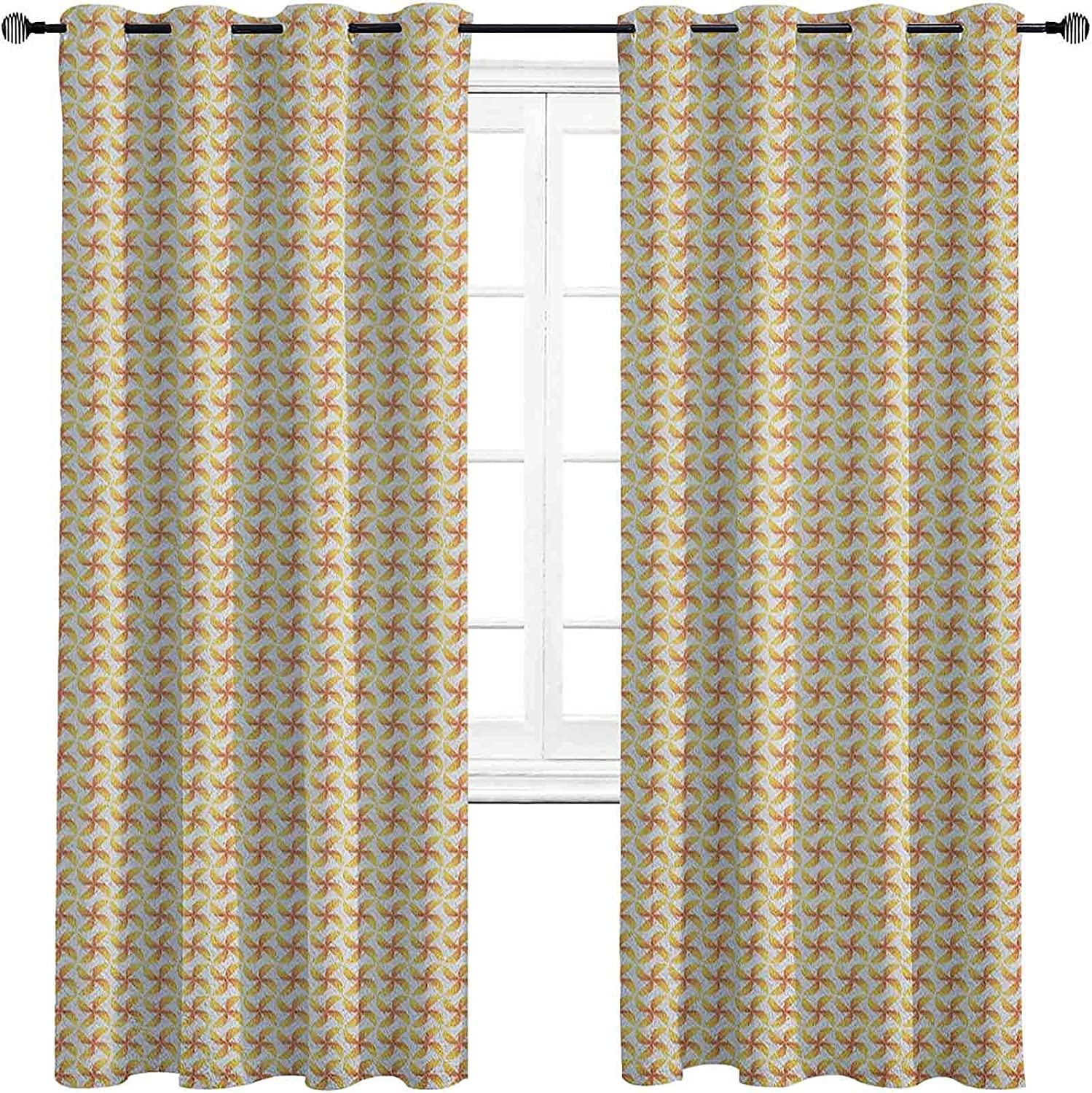 Popular Pinwheel Blackout Curtains with Motif Cheap mail order shopping Grommets darken Abstract