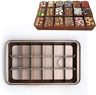 Do4U Non Stick Brownie Pans with Dividers, Diveded Brownie Pan All Edges, Perfect Brownie Pan Set,8 inch by 12 inch (Brownie Pan)