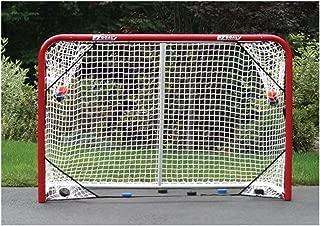 EZGoal 67109 Monster Steel Tube Heavy-Duty Official Regulation Folding Metal Hockey Goal Net, 6 x 4 - Feet, Red
