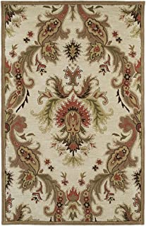 Kaleen 6583-42-23 Khazana Collection Hand Tufted Area Rug, 2' x 3', Linen