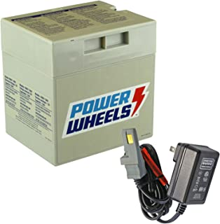 Power Wheels Gray 12V Battery + 12 Volt Gray Charger w/ Probe 00801-1480