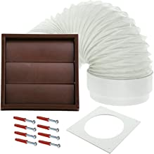 Spares2go Exterior Wall Venting Kit For Cda Tumble Dryers (Brown, 4