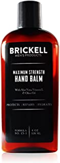 Sponsored Ad - Brickell Men's Maximum Strength Hand Lotion for Men, Natural and Organic Fast-Absorbing Hand Lotion with Vi...