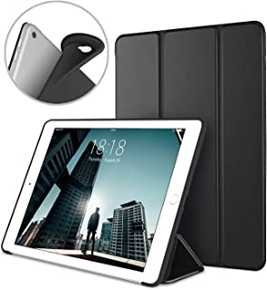 Apple iPad Air2 9.7 Inch Smart Cover, DTTO Ultra Slim Lightweight Smart Case Trifold Cover Stand with Flexible Soft TPU Back Cover for iPad Apple iPad Air2,9.7-inch [Auto Sleep/Wake], Black