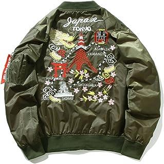 ジャンパー 冬 長袖 男女兼用 MA-1 ストリート 和柄刺繍 エムエーワン ワップン B2021