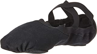Bloch Men's Dance Synchrony Split Sole Stretch Canvas Ballet Slipper/Shoe, Black, 6.5 B US