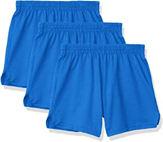 Soffe Girls' Authentic Cheer Short, Royal, Large (3-Pack)