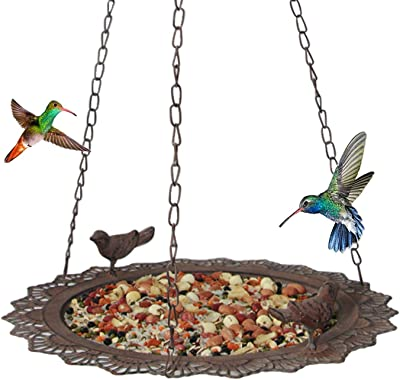 Tenforie Bird Feeder Hanging Tray, Seed Tray Bird Bath Tray for Bird Feeders Attracting Pet Hummingbird Feeder for Outdoor Garden Backyard Decorative Great for Attracting Pet Hummingbird Feeder