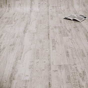 PVC Bodenbelag in wei/ß gemasertem Holz 8,95/€//m/² kleines Muster