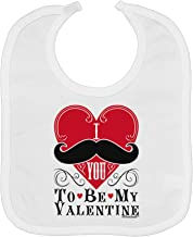 TooLoud I Mustache You To Be My Valentine Baby Bib