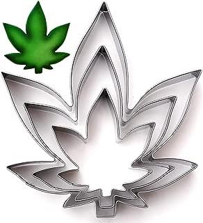 Marijuana Zen Leaf Cookie Cutter Set, 3 Piece, Stainless Steel