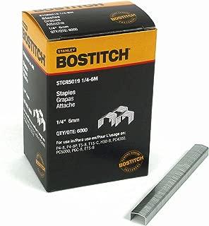 BOSTITCH STCR50191/4-6M 1/4-Inch by 7/16-Inch Heavy-Duty PowerCrown Staple (6,000 per Box)