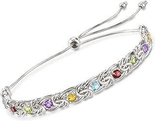 1.20 ct. t.w. Multi-Gemstone Byzantine Bolo Bracelet in Sterling Silver